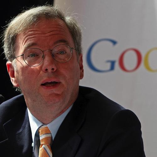 Eric Schmidt durante un evento de Google