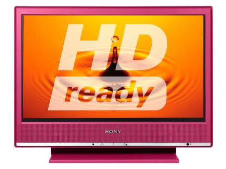 Televisor algo femenino, en rosa