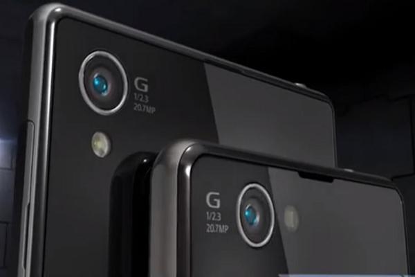 Sensor del Xperia Z1 (superior) y del nuevo Z1S (inferior) con el flash LED desplazado
