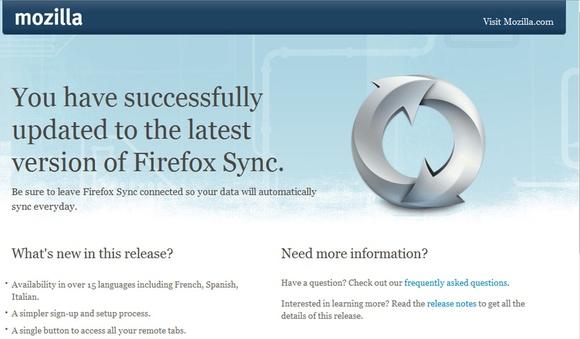 Imagen del servicio 'Firefox Sync'