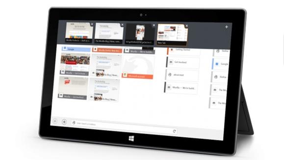 La nueva versión de Firefox está especialmente pensada para las tablets con Windows 8