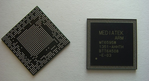 Foto del nuevo procesador de Mediatek