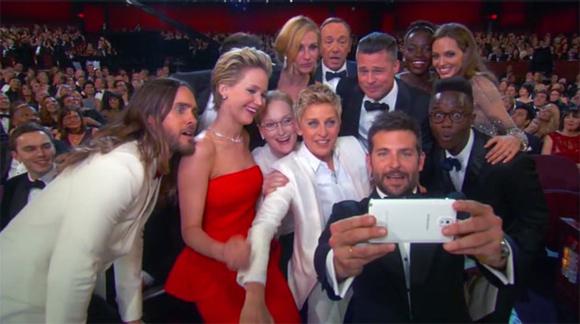 Doce personas convierten a este en el selfie más compartido de la historia