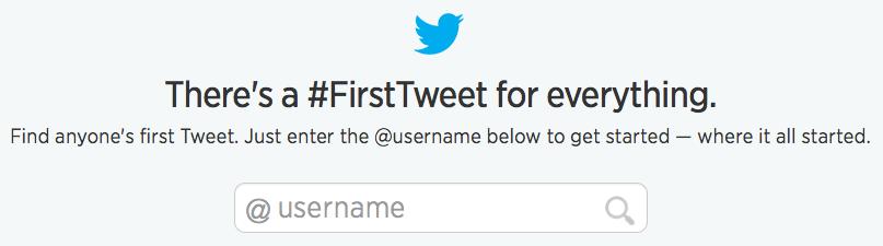 Podrás ver el primer tweet de cualquier usuario público