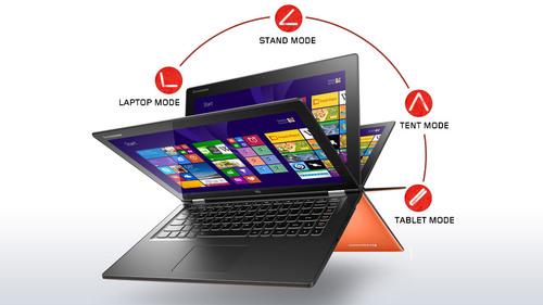 El Yoga permite 4 posiciones: laptop, stand, tent y tablet