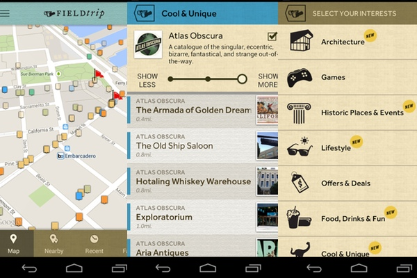 Field Trip, la app de curiosidades