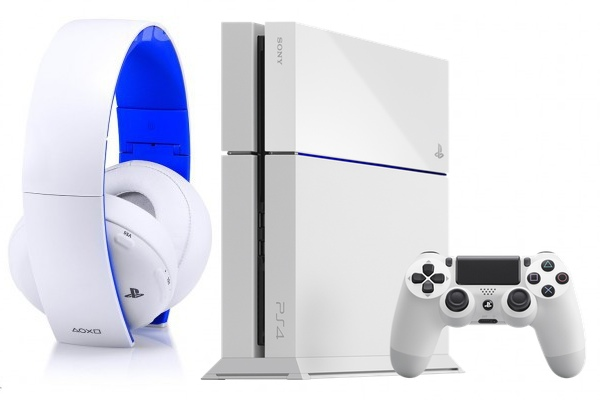 Headset, PS4 y DualShock Glacier White