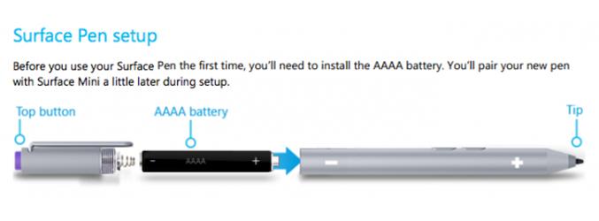 Captura del manual de la Surface Pro 3