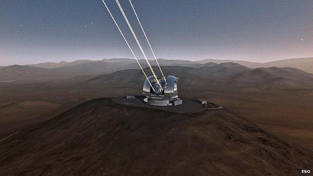 Imagen divulgada por el ESO