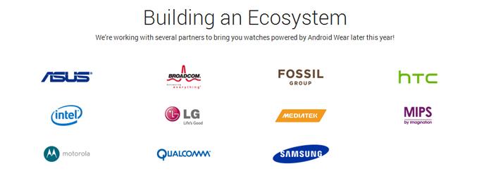 Las empresas que trabajan en Android Wear