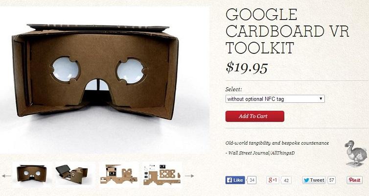 Unas gafas de realidad virtual 'DIY'
