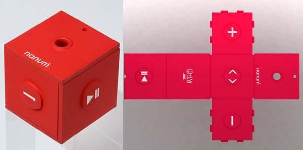 Mobilu Nanum: reproductor en forma de cubo plegable