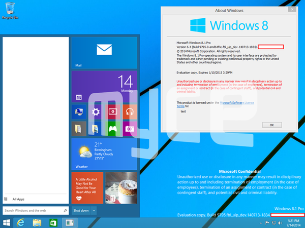 ¿Llegará en Windows 9 o en 8.1 mediante una actualización?