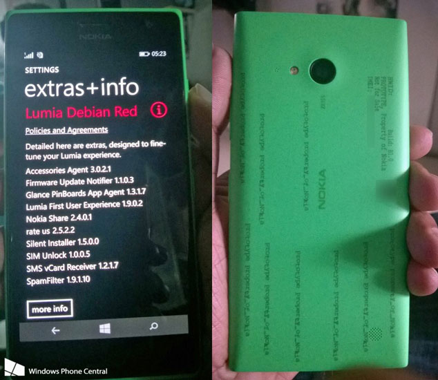 Imágenes filtradas del nuevo Lumia
