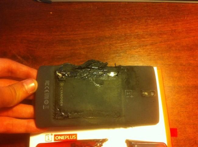 OnePlus One después de la explosión<br>
