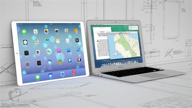 Según MacRumores, así sería un iPad de 12,9 pulgadas