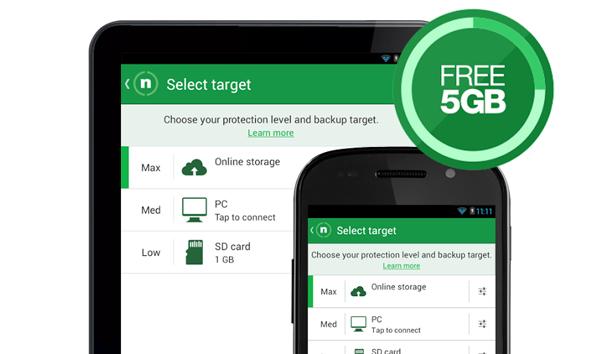 La versión gratuita de BackItUp ofrece 5Gb de almacenamiento