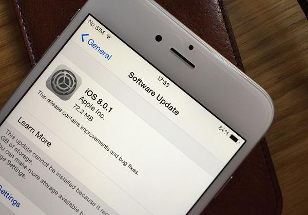 iOS 8.0.1, uno de los mayores fails de Apple