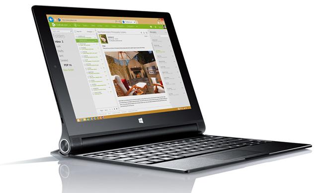 El Yoga Tablet 2 también tiene la opción de utilizar Windows como sistema operativo