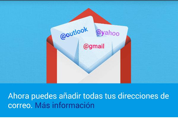 Gmail 5 acepta múltiples servidores de correo