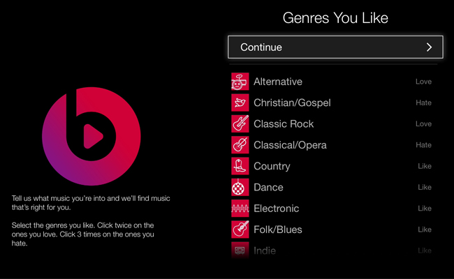 Beats Music se prepara para los dispositivos iOS