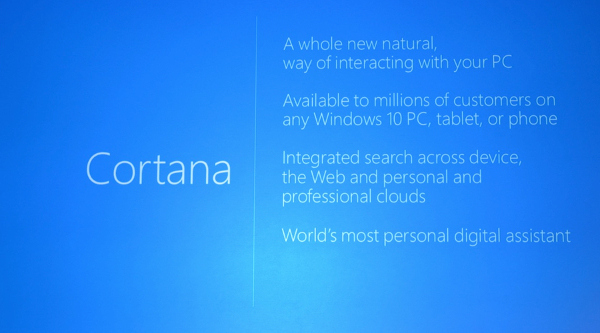 Cortana en Windows 10
