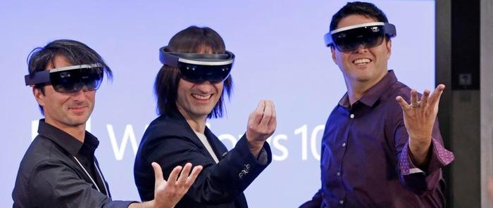 El equipo de Microsoft con HoloLens