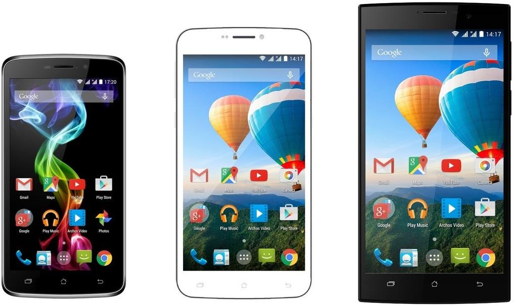Los últimos modelos de smartphones Archos