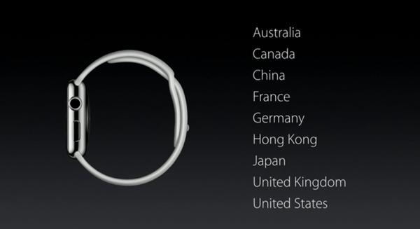 Países lanzamiento Apple Watch 24 de abril