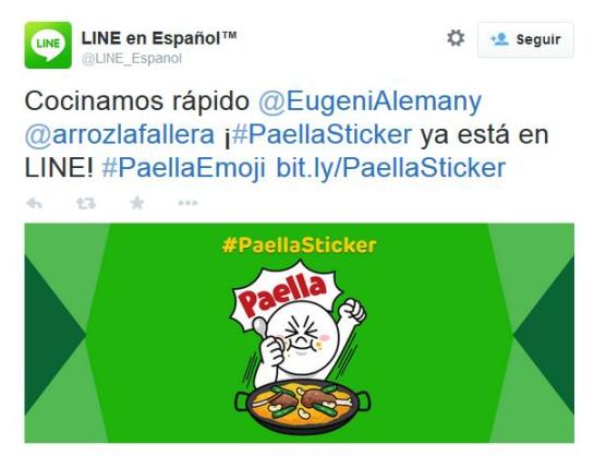 La acción de Line ha sido anunciada vía Twitter