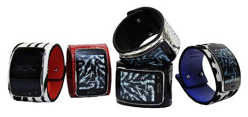 Correas de piel: pitón, cocodrilo, cebra para Samsung