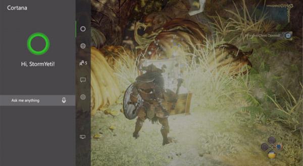 Podremos pedirle a Cortana que busque la guía del juego mientras jugamos