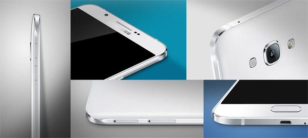 Primeros planos del más fino de Samsung, el Galaxy A8