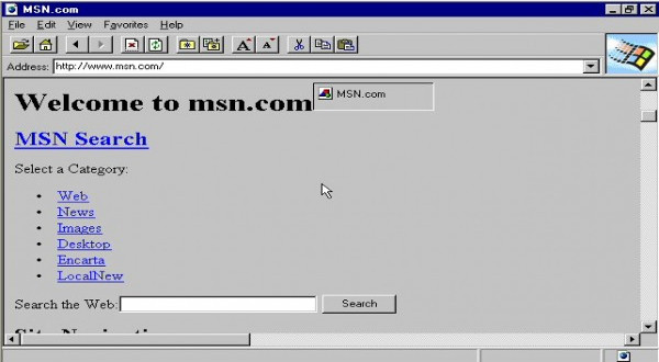 Así lucía IE en su primera versión de 1995
