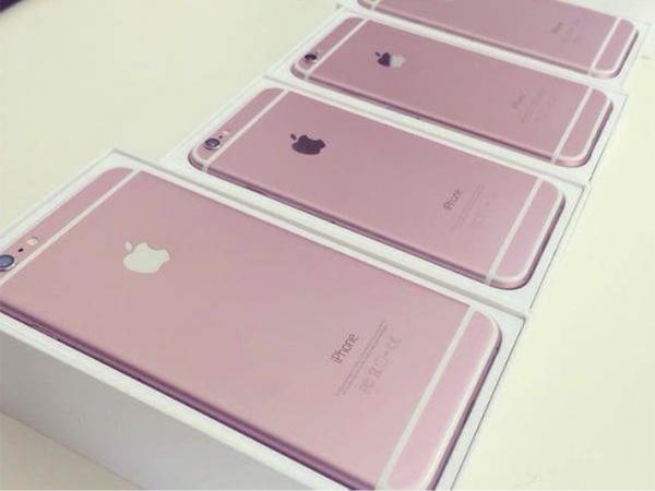 iPhone 6s rosa en cajas