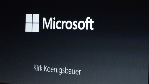 Microsoft en el evento de Apple