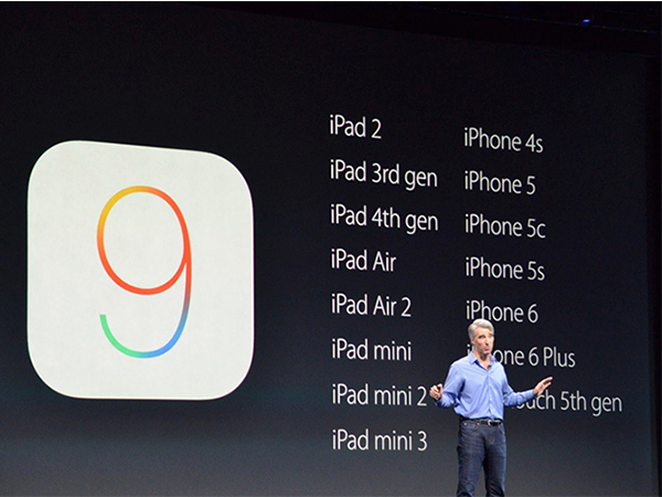 Dispositivos disponibles para iOS 9