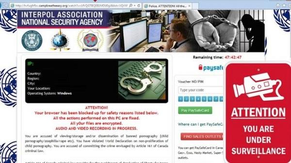 Este era el anuncio que saltaba con el malware