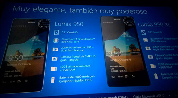 Filtradas las características de los nuevos Microsoft Lumia 950, 950XL y 550