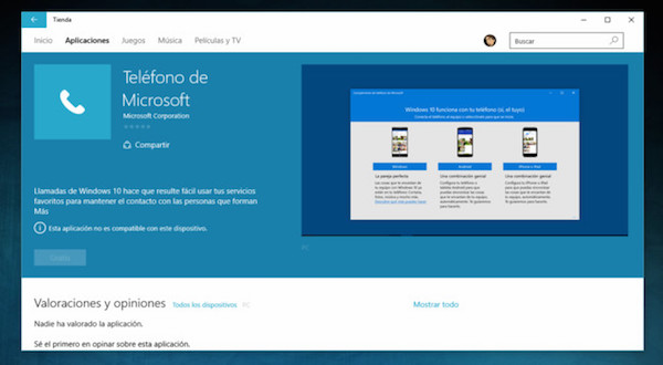 Posible interfaz de Microsoft Phone