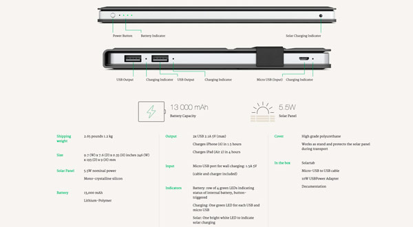 Ya puedes cargar tus dispositivos gracias a Solartab, una base de recarga que funciona con energía solar