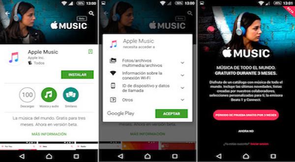 Apple Music está basado en el diseño de Android