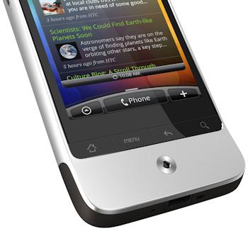 Raton optico y botones del HTC Legend