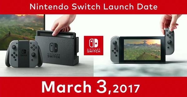 Nintendo Switch sale el tres de marzo