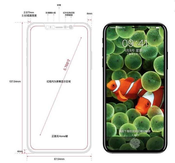 Supuestas imágenes del iPhone 8