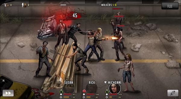 Imagen de uno de los combates del juego