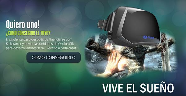 Página oficial del Oculus Rift en español