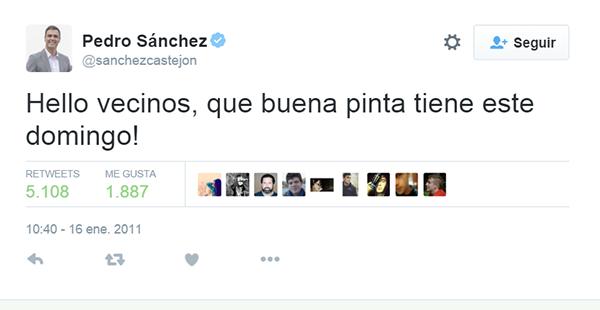 Pedro Sánchez en Twitter