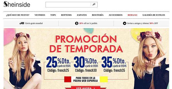 Sheinside, una de las tiendas reconocidas de ropa por internet