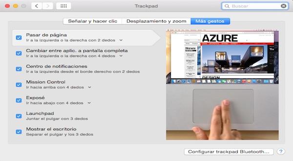 Gestos para el Trackpad en Mac